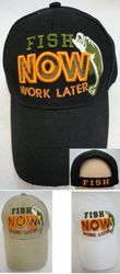 wholesale fishing hats - FISH NOW-WORK LATER Hat
