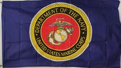 Wholesale Flags - Buy Cheap Flags from USA Best Wholesalers - Flag2759. Wholesale Blue Flag with U.S Marine Logo official licensed