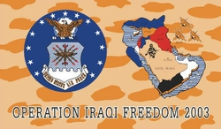 Wholesale Military Flags Supplier Bulk - F281. Military Iraqi Freedom