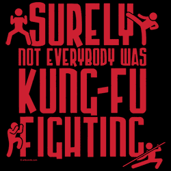 Wholesale Graphic Funny Sayings T-Shirts Suppliers Bulk KUNG-FU - 22366EL4