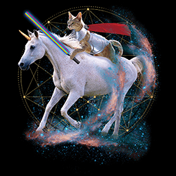 Wholesale Graphic Unicorn Cat Tees for Women T-Shirts T Shirts, Military Hats and Caps Bulk Suppliers - 21978D2