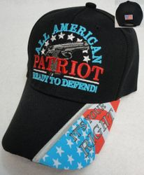 Wholesale Gun Hats - ALL AMERICAN PATRIOT-Ready to Defend Hat