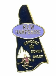 Wholesale New Hampshire Hat Pins Supplier Bulk - PIN450. States