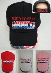 USA Suppliers Wholesale Patriotic American Flag Bald Eagle Baseball Hats - HT680. PROUD TO BE AN AMERICAN Hat