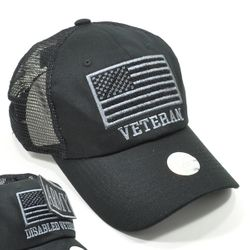 Wholesale Hats Ball Caps Supplier Bulk Mens Veteran USA Flag