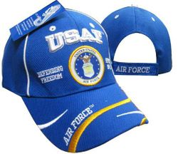 Wholesale Clothing, Best Selling Air Force Military Wholesale Hats Bulk Suppliers - Military Veterans - USAF Emblem Defend Freedom Cap