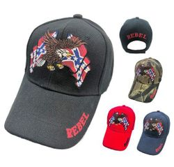 Confederate Flag Hats Embroidered Wholesale Bulk Suppliers - MSC Distributors - HT428.
