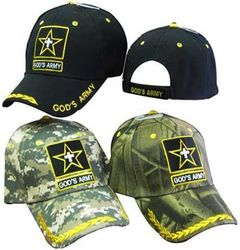 Christian Hats Wholesale Clothing Apparel Men's Cheap Christian Hats - CAP824 God's Army Cap 3C