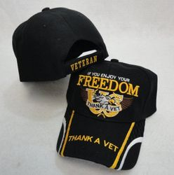 Wholesale USA American Flag Baseball Caps and Patriotic Hats Bulk Sale Suppliers - HT125. IF YOU ENJOY YOUR FREEDOM-THANK A VET Hat