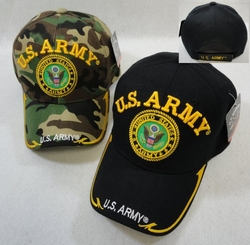 Hats Caps Wholesale Bulk Supplier - Military Patriotic Veteran - HT3845ASST. Licensed US Army [Seal] Ball Cap Assorted Colors