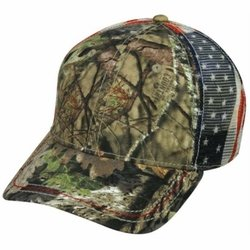 Wholesale Hunting Gear Gifts Camping Fishing Sporting Goods Bulk Supplier - Mossy Oak Country Camo Americana Mesh Back Hunting Hat