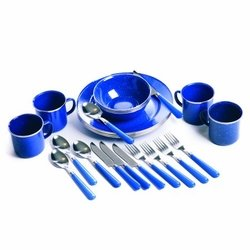 Wholesale Hunting Gear Gifts Camping Fishing Sporting Goods Bulk Supplier - Stansport 11220 Enamel Camping 24-Piece Tableware Set