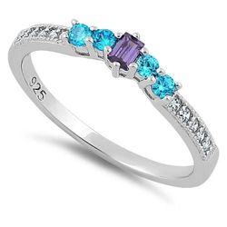 Wholesale Jewelry for Sale - Wholesale Sterling Silver Jewelry Online - sterling-silver-dark-violet-aqua-cz-ring-19
