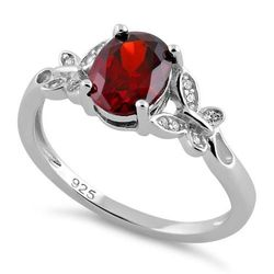 Wholesale Jewelry for Sale - Wholesale Sterling Silver Jewelry Online - sterling-silver-double-butterfly-garnet-center-stone-cz-ring-18