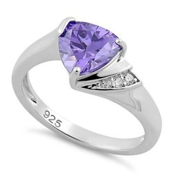 Wholesale Jewelry for Sale - Wholesale Sterling Silver Jewelry Online - sterling-silver-elegant-trillion-cut-amethyst-cz-ring-24