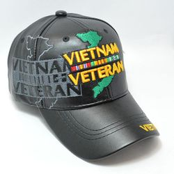 Wholesale Licensed Military Hats & US Military Caps - PUMI-243 PU LEATHER CAP