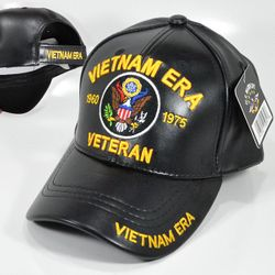 Wholesale Licensed Military Hats & US Military Caps - PUMI-695 PU LEATHER CAP