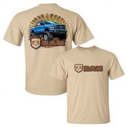 Wholesale Men's Women's American Muscle Car T Shirts Bulk Suppliers - Dodge-RAM-on-tan-20141-279x279