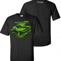 Wholesale Men's Women's American Muscle Car T Shirts Bulk Suppliers - JAD-104-Green-Challenger2-279x279
