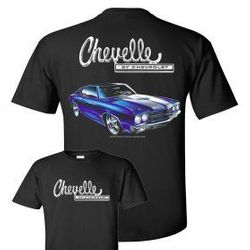 Wholesale Men's Women's American Muscle Car T Shirts Bulk Suppliers - johny-70-Chevelle-no-flame