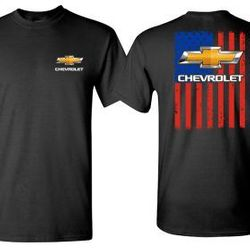 Wholesale Men's Women's American Muscle Car T Shirts Bulk Suppliers - Johny-Chevy-Flag