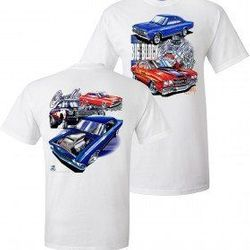 Wholesale Men's Women's American Muscle Car T Shirts Bulk Suppliers - TDC_146-Chevelle-Big-Block