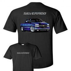 Wholesale Men's Women's American Muscle Car T Shirts Bulk Suppliers - TDC_158N-00-Silverado-Adult