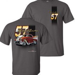Wholesale Men's Women's American Muscle Car T Shirts Bulk Suppliers - TDC-218-57-Belair-Adult