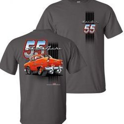Wholesale Men's Women's American Muscle Car T Shirts Bulk Suppliers - TDC-219-55-Belair-Adult