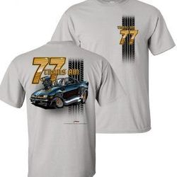 Wholesale Men's Women's American Muscle Car T Shirts Bulk Suppliers - TDC-221-77-Trans-Am-Adult