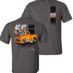 Wholesale Men's Women's American Muscle Truck T Shirts Bulk Suppliers - TDC-222-55-Chevy-Truck-Adult