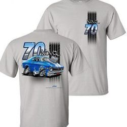 Wholesale Men's Women's American Muscle Car T Shirts Bulk Suppliers - TDC-223-70-Nova-Adult
