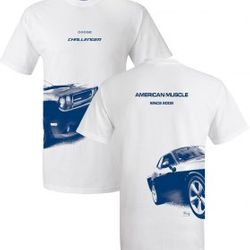 Wholesale Men's Women's American Muscle Car T Shirts Bulk Suppliers - UW_003-08-Challenger