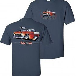 Wholesale Men's Women's Chevrolet American Muscle Car T Shirts Bulk Suppliers - WH_108-55-Chevy