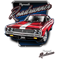Wholesale Men's Women's Plymouth Roadrunner 1969 Car T Shirts Bulk Suppliers - 20340HD1