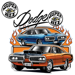 Wholesale Men's Women's Dodge Super Bee Car T Shirts Bulk Suppliers - 21143HD1