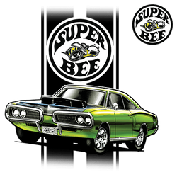 Wholesale Men's Women's Dodge Super Bee Car T Shirts Bulk Suppliers - 21144HL1