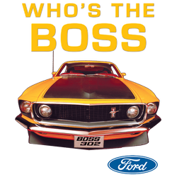 Wholesale Men's Women's Ford Mustang Boss 302 Car T Shirts Bulk Suppliers - 13736HD2