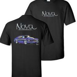 Wholesale Men's Women's Muscle Car T Shirts Bulk Suppliers - 1970-Nova-non-Flame