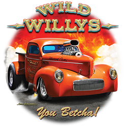 Cheap Bulk Wholesale Muscle Car T Shirts Bulk - 21305D3 Wild Willys