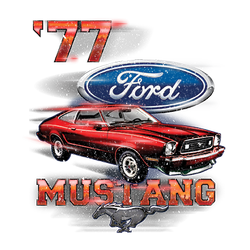 T Shirts Gildan Muscle Car Wholesale Clothing and Apparel Drop Shipping - Ford Mustang 77 Bulk Suppliers - 21532D1