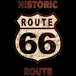 T Shirts Gildan Muscle Car Wholesale Clothing and Apparel Drop Shipping - Route 66 T Shirts - 21897HD2