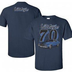 Wholesale Men's Women's Vintage American Muscle Car T Shirts Bulk Suppliers - VIN-003-70-Chevelle
