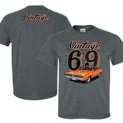 Wholesale Men's Women's Vintage American Muscle Car T Shirts Bulk Suppliers - VIN-005-69-Charger