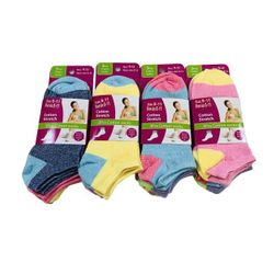 Military World Clothing Distributors - Bulk Socks Wholesale Socks Merchandise Distributors Bulk - SC700-12. 3pr Ladies Teen Low-Cut Anklets 9-11[Two Tone]