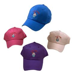 Party Toys Wholesale Merchandise Suppliers - HT5113. Girl's Embroidered Ball Cap [Cup Cake]