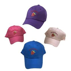 Party Toys Wholesale Hats Merchandise Suppliers - HT5114. Girls Embroidered Ball Cap [Strawberry]
