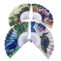 Party Toys Wholesale Merchandise Suppliers - TY1037. Folding Fan [Printed Peacocks]