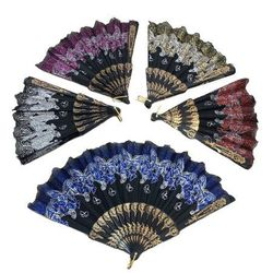 Party Toys Wholesale Merchandise Suppliers - TY1075. Folding Fan [Butterfly with Lace]