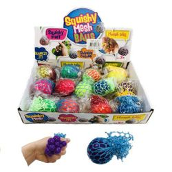 Party Toys Wholesale Merchandise Suppliers - TY671. Small Mesh Squish Ball [Solid Colors]